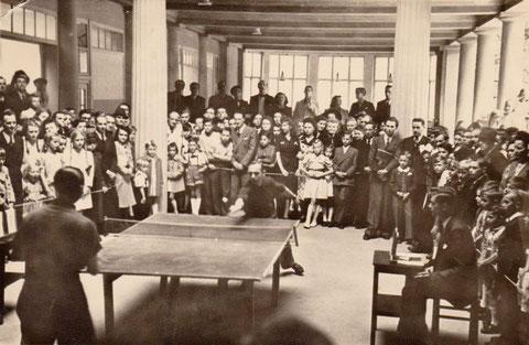 Tischtennisvergleichswettkampf gegen Jena 1946 - Archiv Lothar Abendroth
