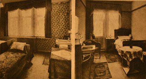 Fremdenzimmer vom Kaffee Aschenbach, rechtes war später Kinderzimmer von Cornelia Marx - Archiv C.Roensch