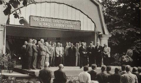 Musikpavillion 1957 anläßlich Feierlichkeiten 100 Jahre MGV Sängerkranz 1857 e.V.