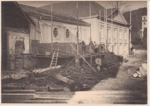 Neubau Badehaus 1937, das heutige Theater besitzt noch den damals geschaffenen Eingangsbereich -Archiv W.Malek