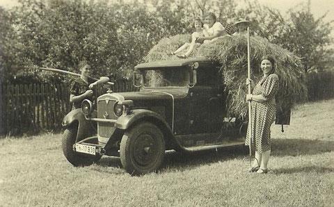 Heuernte in Schweina 1920er - Archiv Kai Ziegler