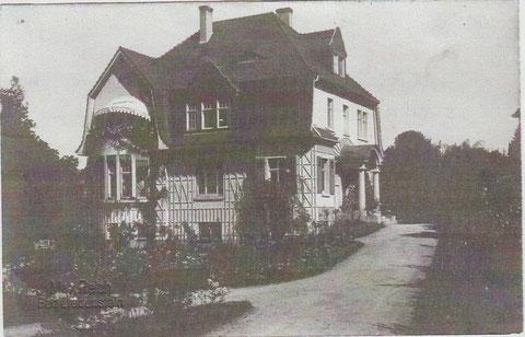 Villa Meyer, Karte 1926 von der Tochter von Gräfin Rüdiger geschrieben - Besitz: Hartmut Luck