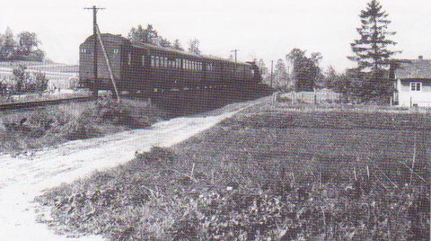 Zug am Talblick 60er Jahre - Archiv W.Malek