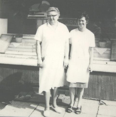 Lina Amborn, geb. Büchner & Tochter Irmgard Luck - Archiv Hartmut Luck