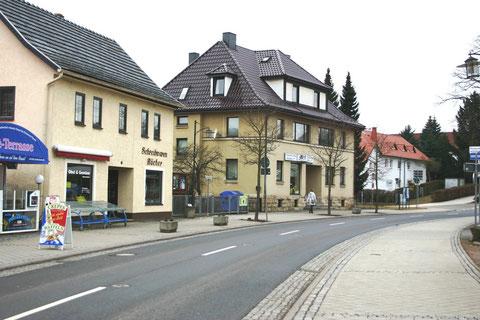 Aufnahme März 2012,  an der Stelle des Doppelhauses Müller/Konietzko stand Haus Weller, dann kam Haus Hopf und oberhalb der Barchfelderstr. stand das Forsthaus