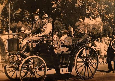 Pferdekutsche vermutlich 1913 zum großen Heimatfest - Quelle J. Leinweber