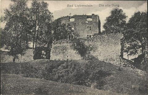 Burgruine Anfang 20. Jahrhundert vom Verlag Jagemann
