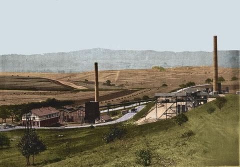 Bergwerk um 1908 - Fotografie coloriert und gepostet von Wolfgang Saft