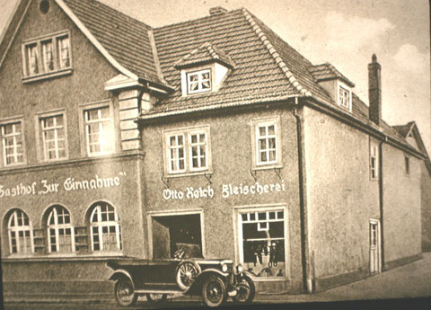 Gasthof zur Einnahme 1928 - Archiv Fritz Eberhard Reich