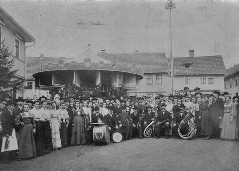 Kirmes 1906 Marktschänke Schweina - Sammlung Vaiko Weyh