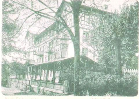 Esplanade 1, Als Sommerbau geplant wurde diese Fachwerkausführung gewählt - Archiv W.Malek