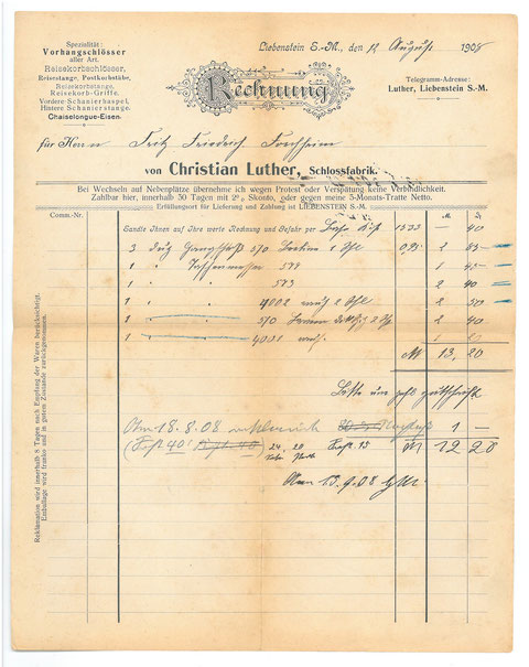 Sammlung Christian Luther - Ururenkel des Firmengründers