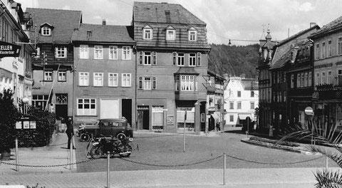 Marktplatz Bad Salzungen 1930er - Archiv Peter-Michael Stein