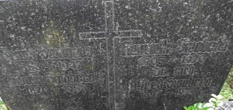 Grabstein Friedhof Bad Liebenstein - Aufnahme November 2014