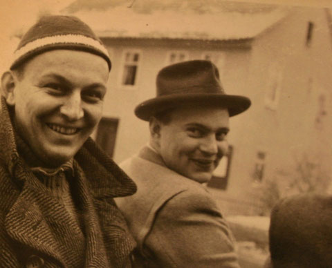 Rudolf Salzmann (links) und Horst Paukert - Sammlung C. Rönsch