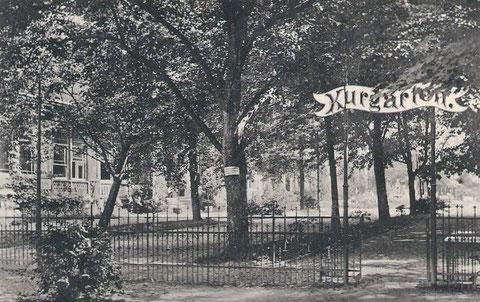 Gebäude links Hotel Bellevue - Ansichtskarte 1912 gelaufen - Repro W.Malek