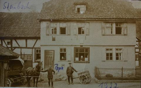 Fritz Trautvetter in den 1920ern als Postboote in Steinbach