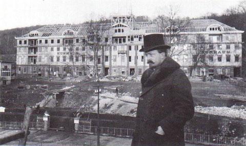 Kurhausumbau 1913 mit Kurdirektor Müller-Freese - Archiv W.Malek