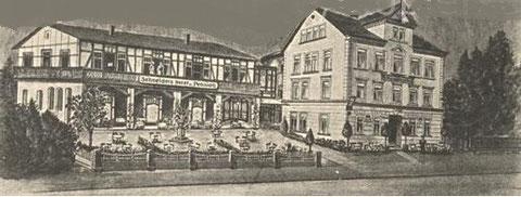 Schneiders Hotel & Pension ca. 1885 - Repro W.Malek