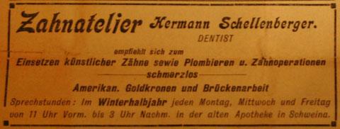 Anzeige im Stammgast vom 12.11.1907 aus der Sammlung Harry Stein