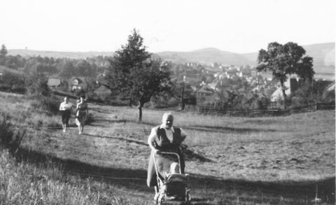 Blick von Hutweide auf Bad Liebenstein 1960/70er von Foto Bodo