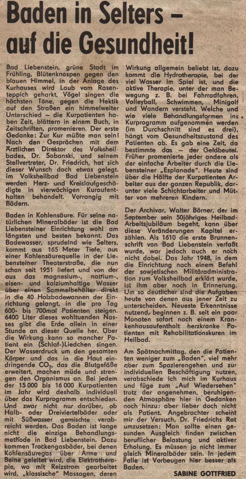 Zeitungs-Artikel von 1976