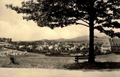Blick auf Bali 1950er (vom Standort der heutigen Wendeschleife Aschenbergstraße aus aufgenommen) - Repro W.Malek