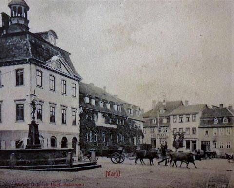 Salzungen Der Markt um 1900 - gepostet von P.M.Stein 102017.