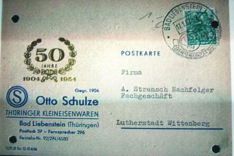 Postkarte von 1962