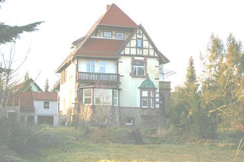 Dr. Külz-Straße 10, Forstvilla von Süden aufgenommen - Zustand Februar 2012