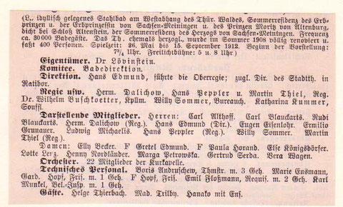 Anzeige im Jahre 1912