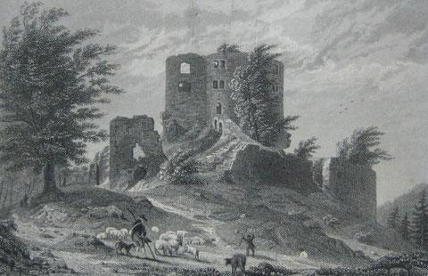 Stahlstich, Wagner/Dawson (ca. 1838), 10 x 15,5 cm