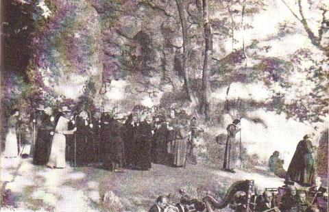 Aufführung von Richard Wagners Tannhäuser mit der Szene des Pilgerzuges ( aus Bad Liebenstein - Herzbad der DDR )