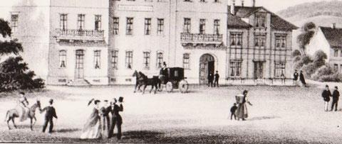 Straßenszene vor Meininger Hof Ende 19.JH - Archiv W.Malek