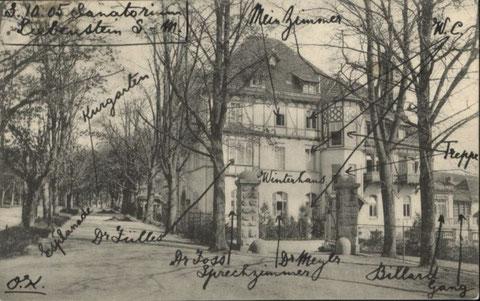 Karte gelaufen 1905 - Repro W.Malek
