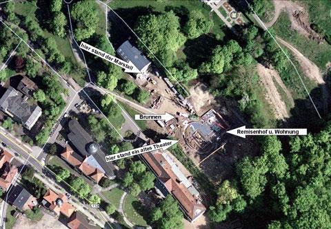 Ansicht bearbeitet von Günter Schwesinger - Die Aufnahme zeigt den Baubeginn des Kurhauses !