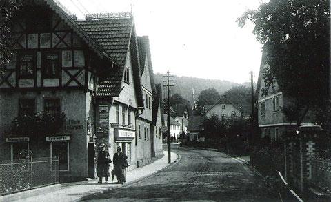 Anzeige an der Hauswand - Filiale am Kurplatz - Archiv W.Müller