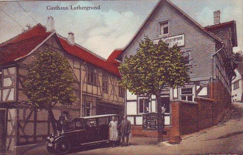 Gasthaus Luthergrund um 1910