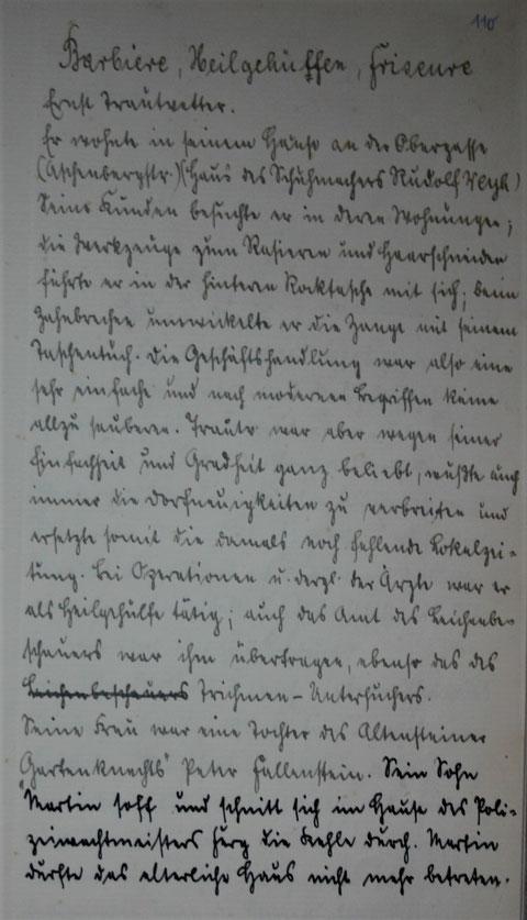 Barbier, Heilgehülfe, Friseur Ernst Trautvetter