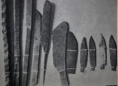 Entwicklung vom Zaineisen zur handgeschmiedeten Klinge - Zusammenstellung von Gustav Eichel-Kurt 1958, Aus Ernst Kaisers Liebenstein Buch