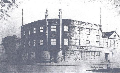 Entwurf zur östlichen Erweiterung der Keksfabrik - Archiv Dr.D.Rimbach