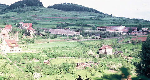 Blick zum Bergwerk Steinbach 1959 - Quelle J. Bodenstein