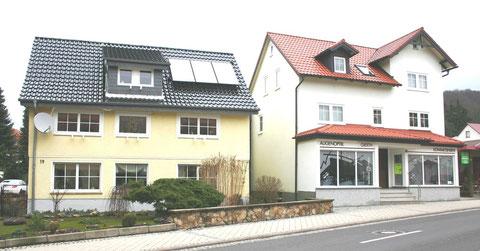 Wohnhaus Hufschmiede nach Umbauarbeiten und Haus Optiker Gierth / Familie Schwalm Januar 2013