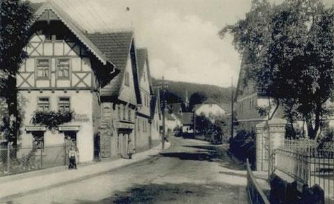 Rechts Eingang zum Elektrizitätswerk -Aufnahme vor 1916 - Archiv W.Malek