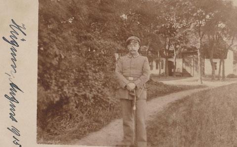 Wilhelm Perlet im 1.WK _ Feldpostkarte - Quelle: Dr. Henning Frank