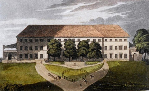 Umgebautes Fischern'sches Schloss um 1810 - Archiv V.Henning