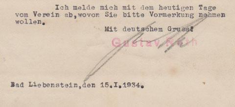 Eventuell hatte die Abmeldung mit dem Status Gustav Roths als Freimaurer zu tun .....