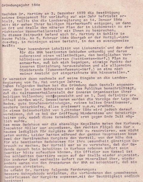 Auszug aus dem Vortrag Josef und Wolfgang Malek vom 21.06.1984 Feodora