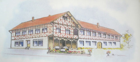 Logierhof Zeichnung 1990er Jahre