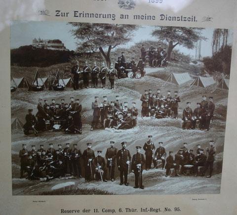Reserve der 11.Companie 6.Thüringer Infanterie-Regiment Nr. 95 (1897 bis 1899) im Besitz von Kurt Schwarz
